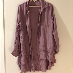 Boho light purple cardigan!